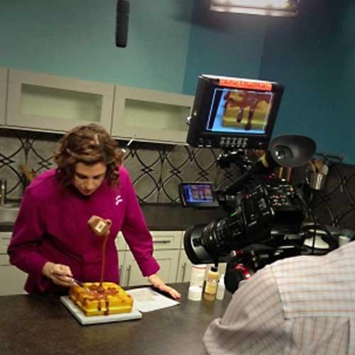 Lauren Kitchens On Set For DVD Classes