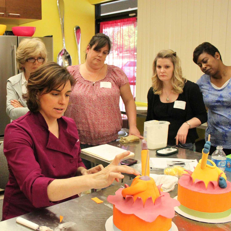 Lauren Kitchens teaching class